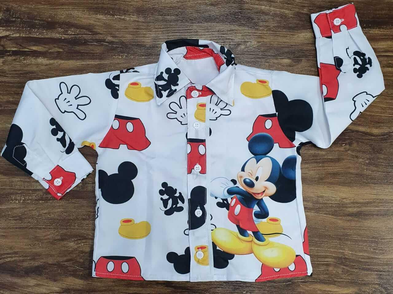 Camisa Manga Longa Mickey Clássico Infantil