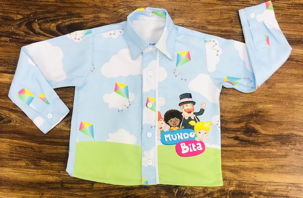 Camisa Longa Mundo Bita Tradicional Infantil