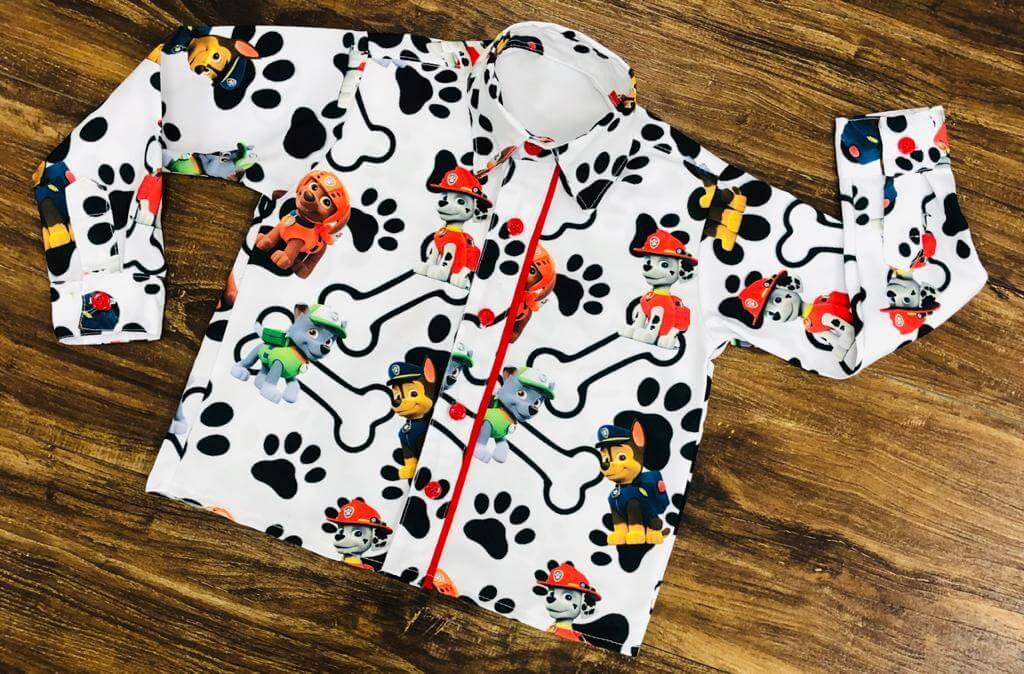 Camisa Manga Longa Patrulha Canina