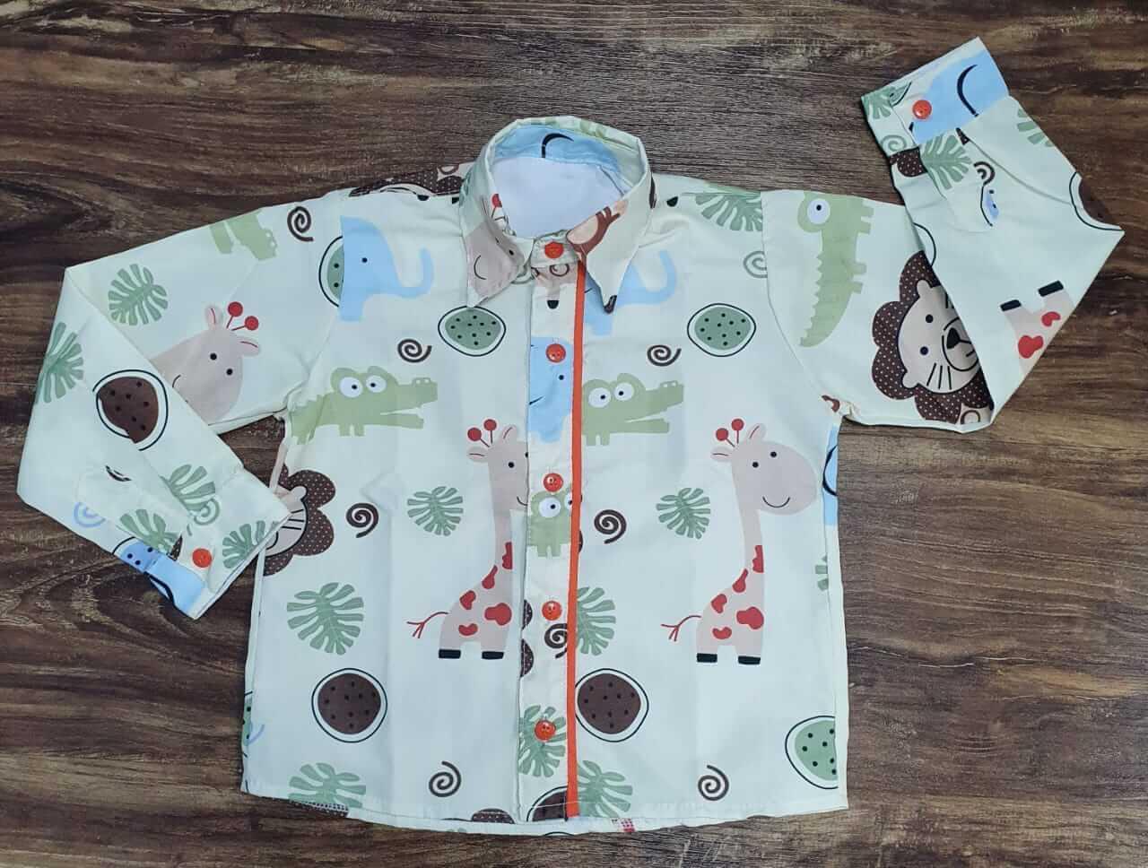 Camisa Manga Longa Safari Infantil