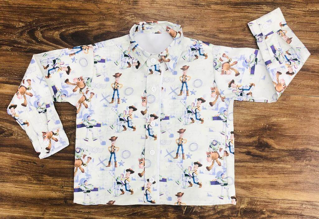 Camisa Manga Longa Toy Story Nude Infantil