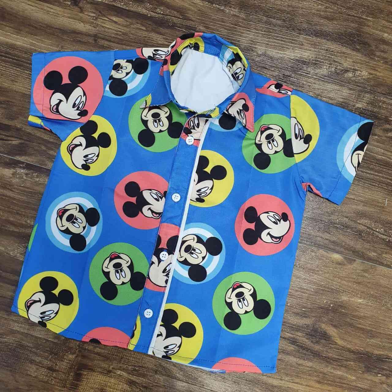 Camisa Mickey Colorida Infantil