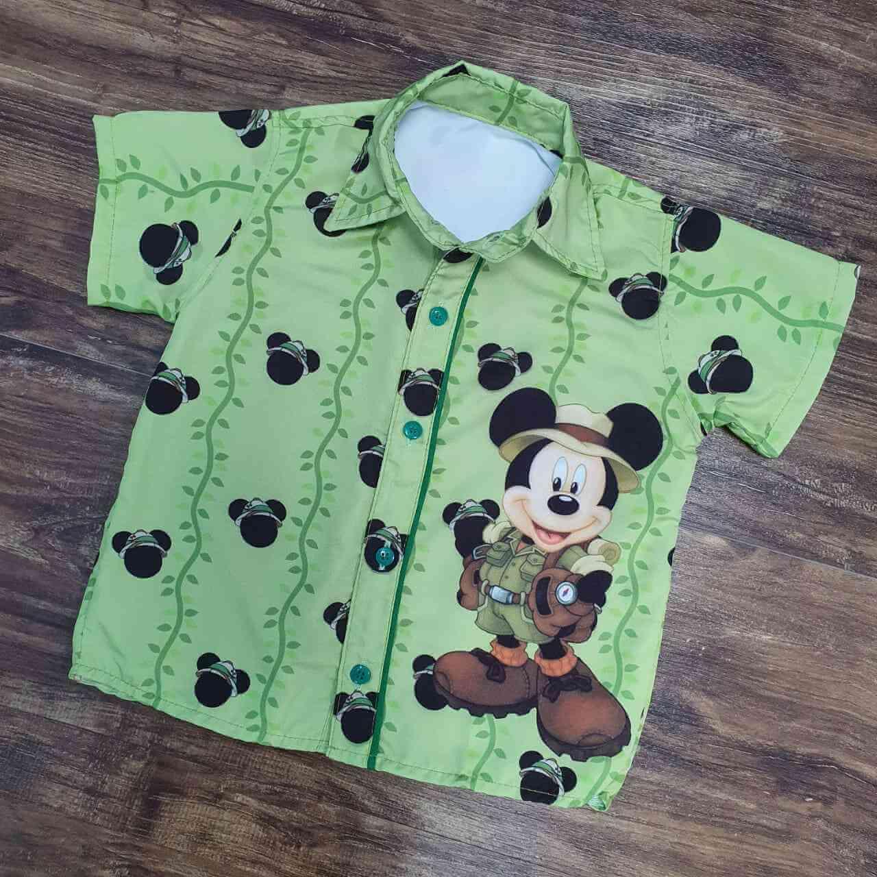 Camisa Mickey Safari Infantil