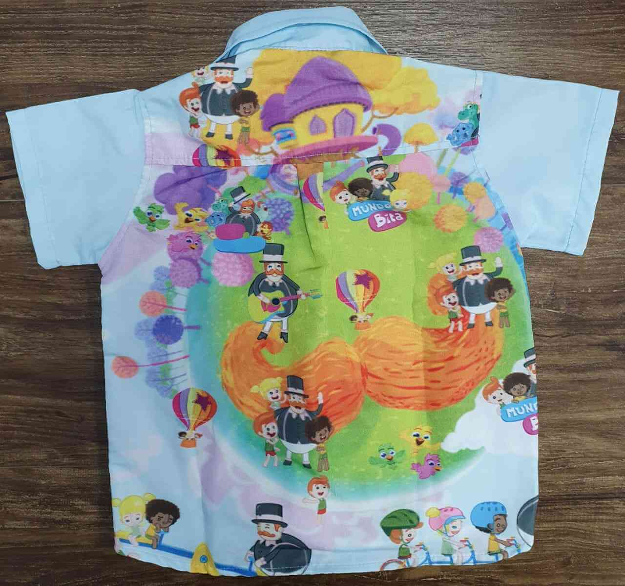 Camisa Mundo Bita Azul Infantil