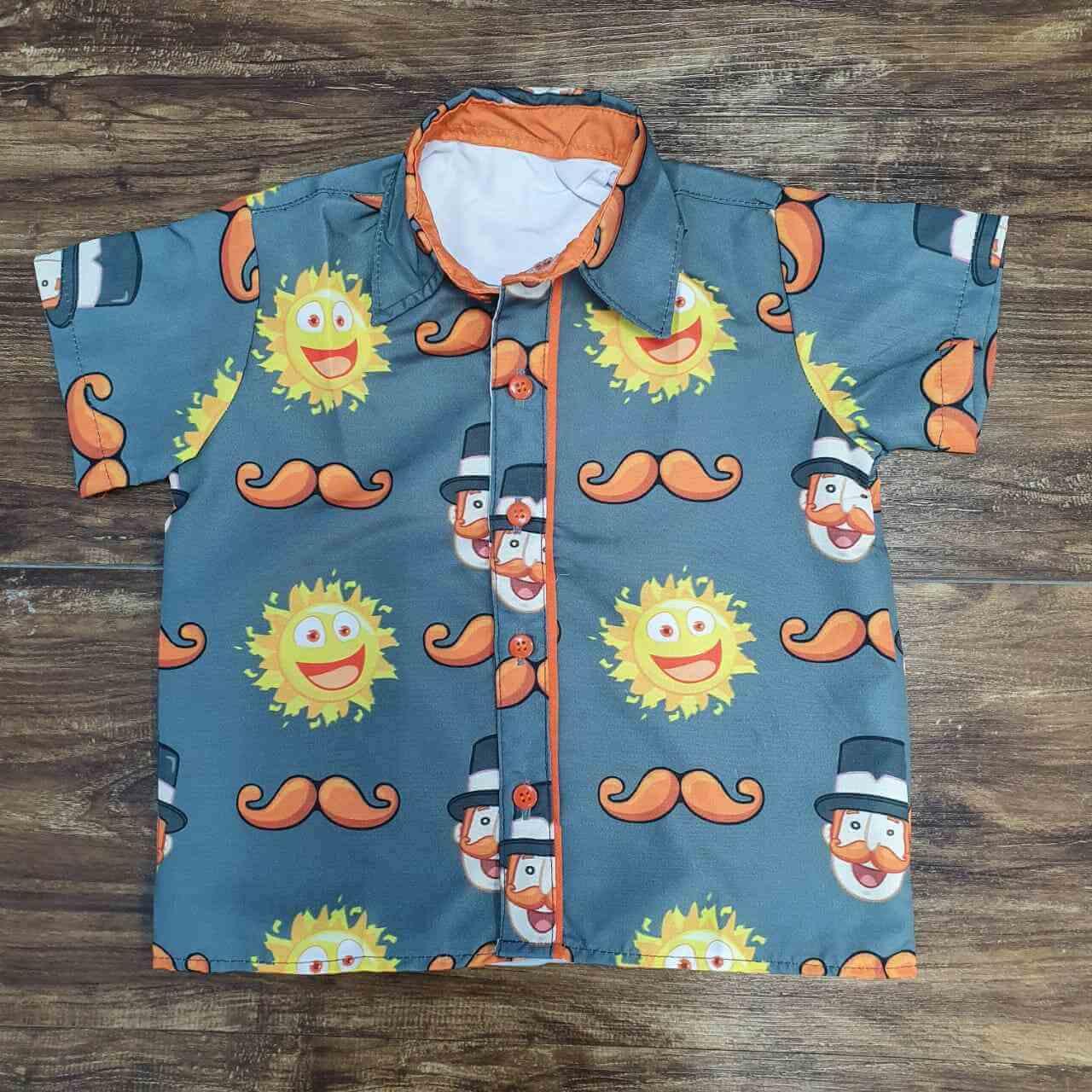 Camisa Mundo Bita Cinza Infantil