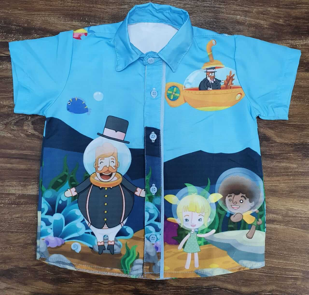 Camisa Mundo Bita Fundo do Mar Infantil
