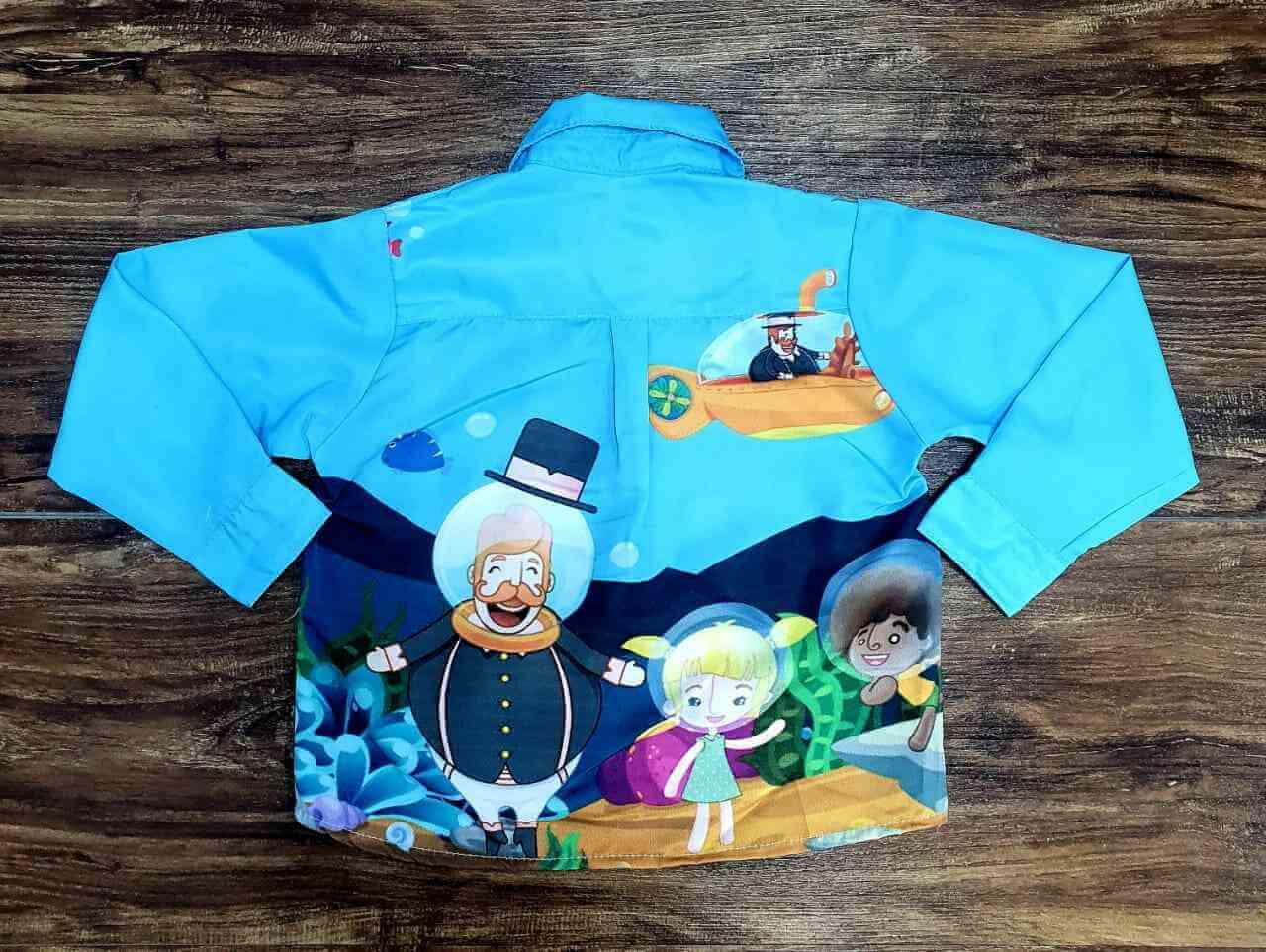 Camisa Mundo Bita Fundo Do Mar Infantil