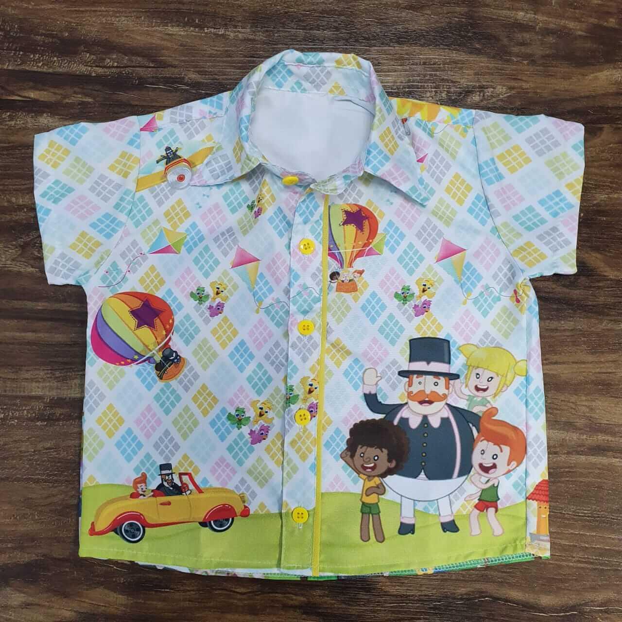Camisa Mundo Bita Quadriculada Infantil