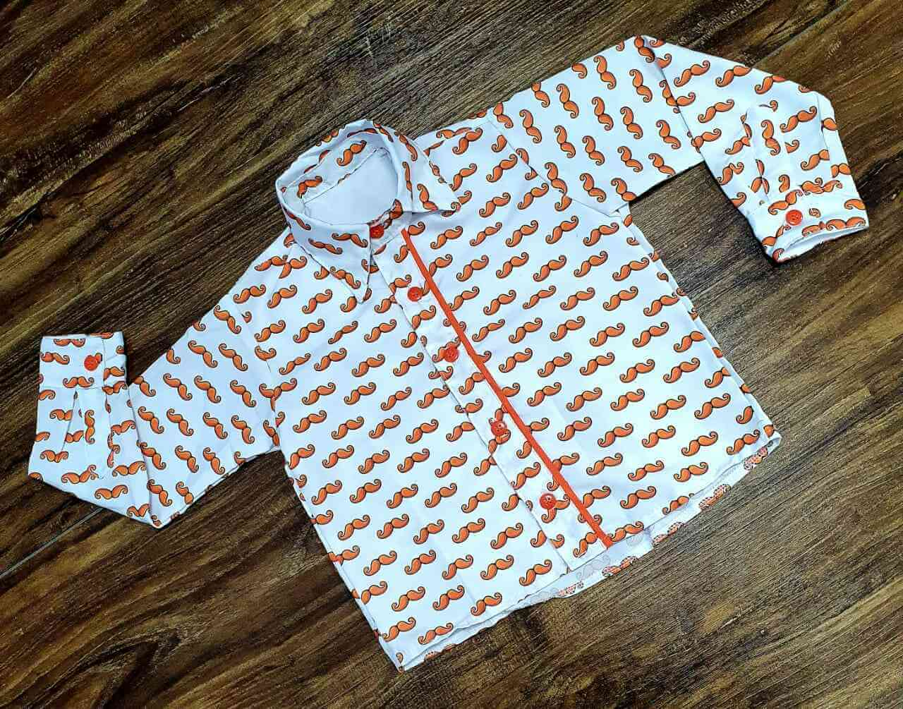 Camisa Longa Mundo Bita Bigode Infantil