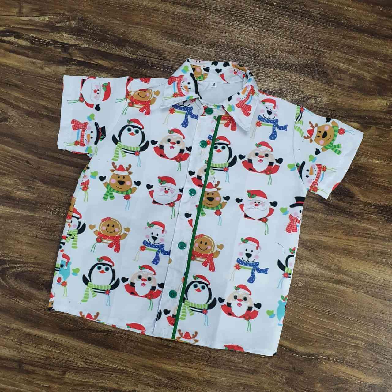 Camisa Natal Branca Infantil