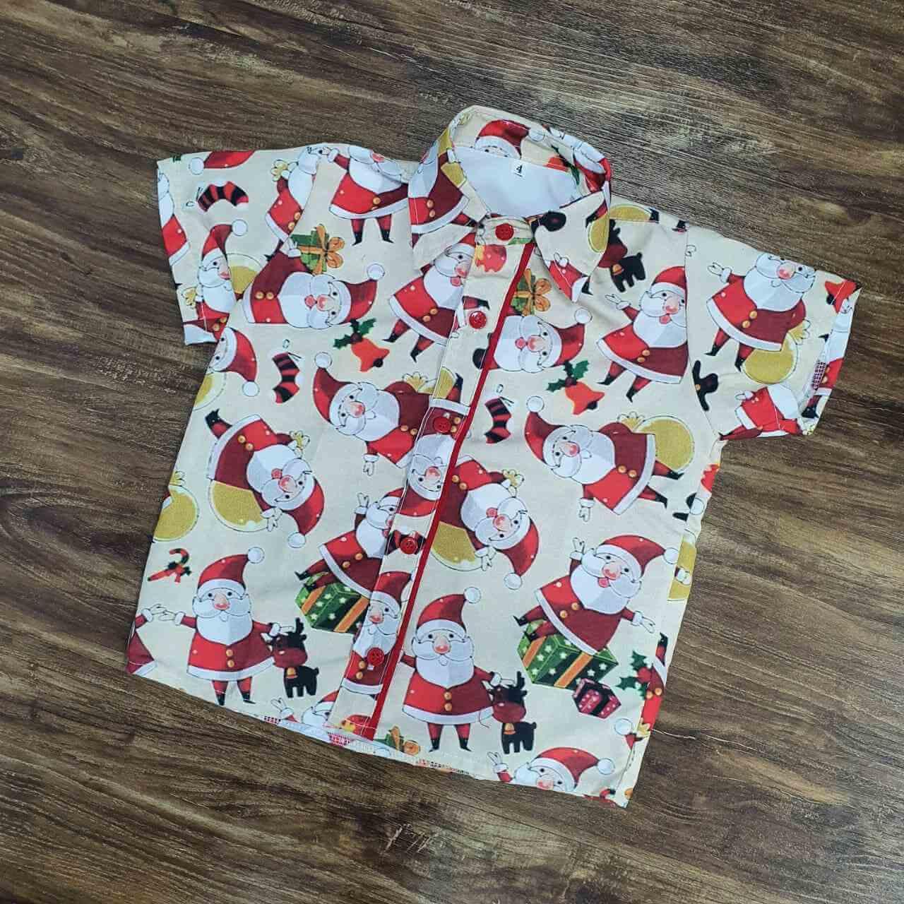 Camisa Papai Noel Infantil