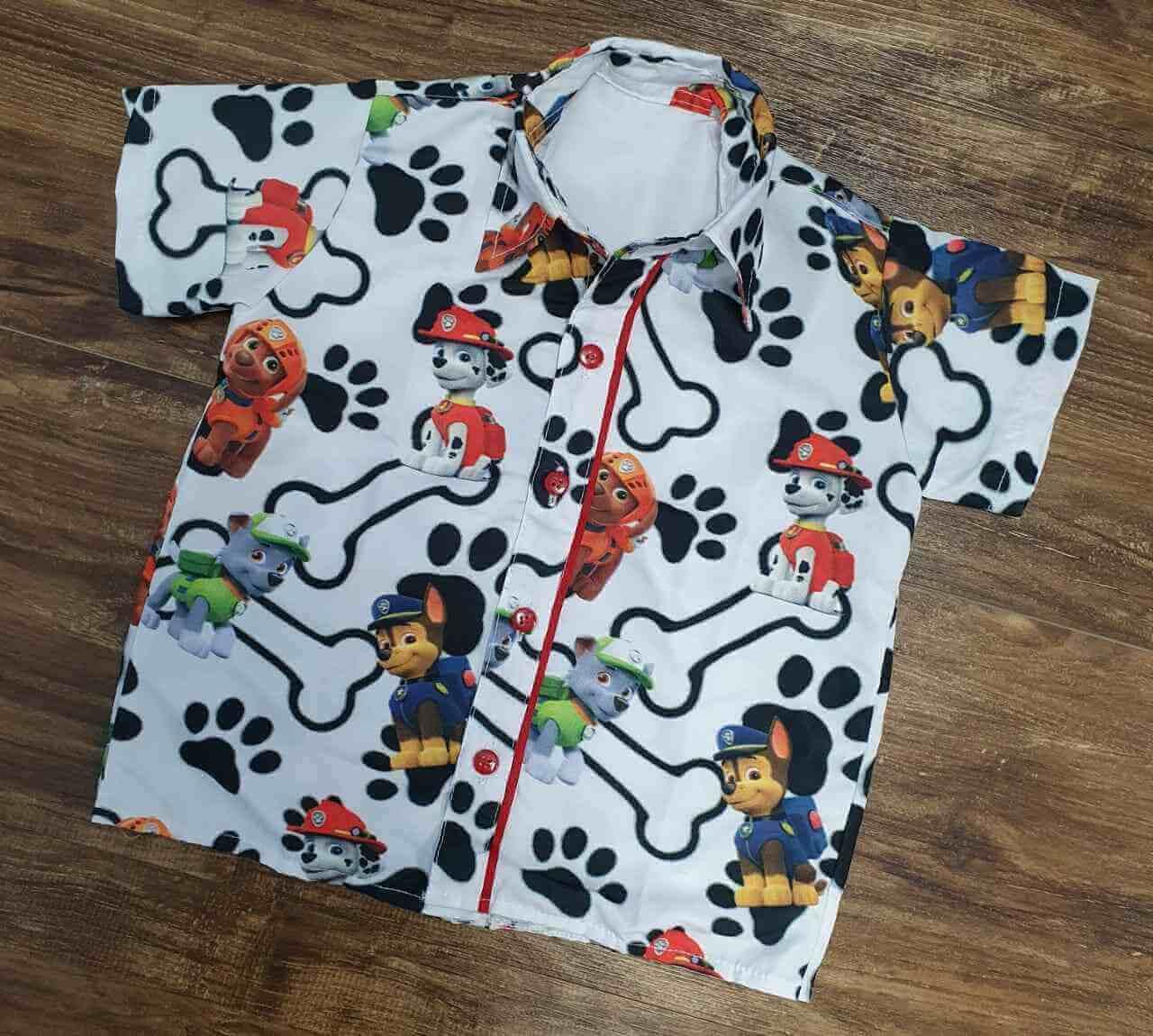 Camisa Patrulha Canina Infantil