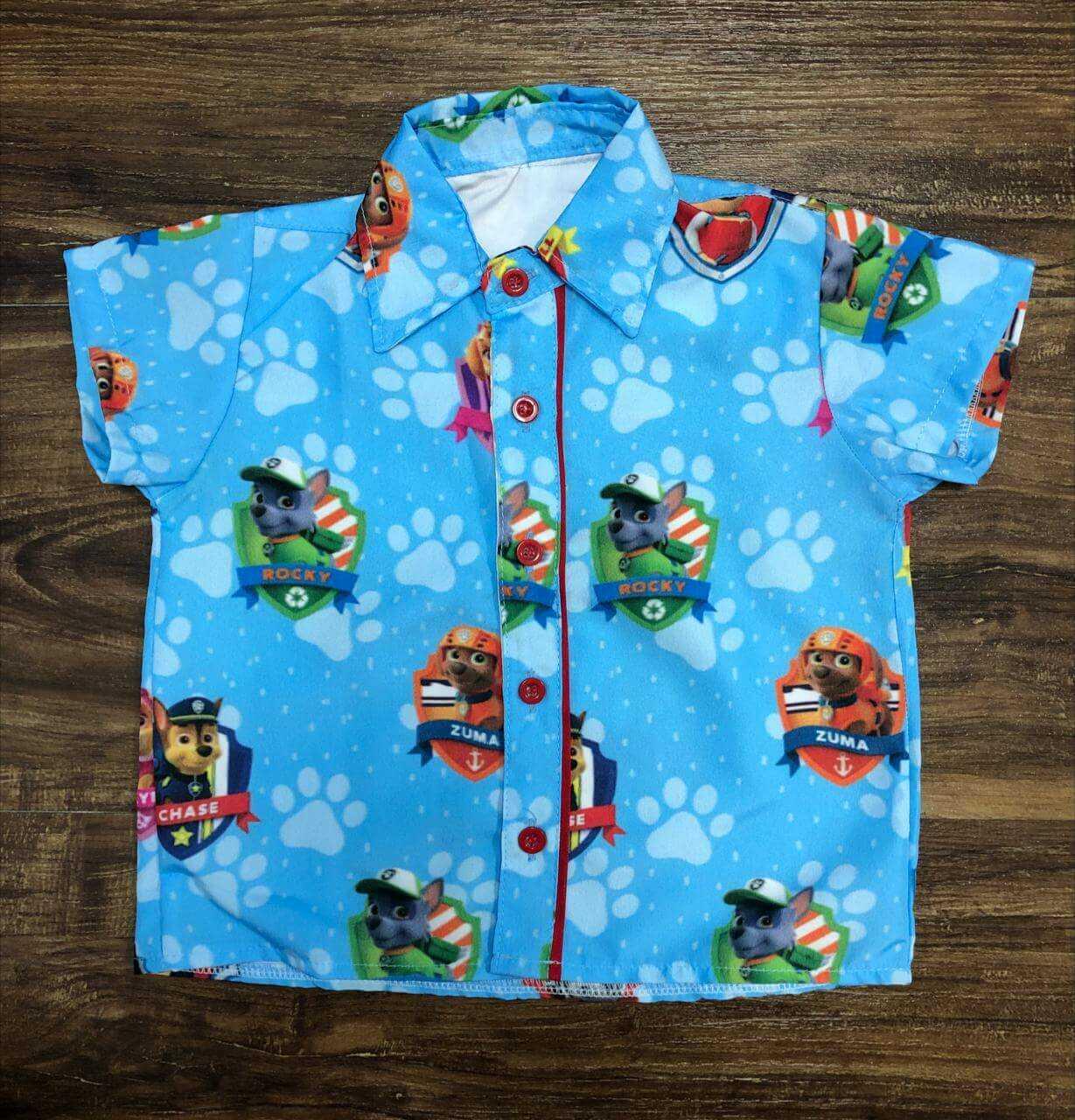 Camisa Patrulha Canina Azul Infantil