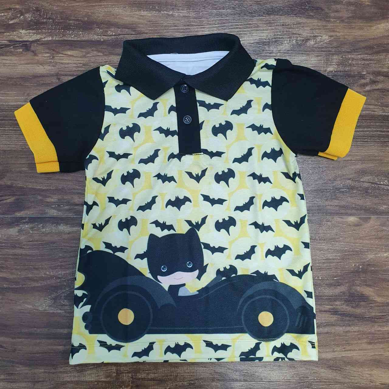 Camisa Polo Batman Infantil