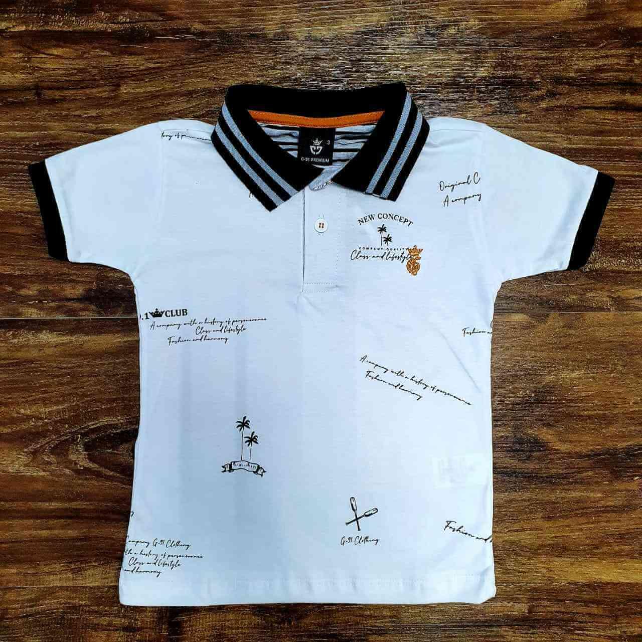 Camisa Polo Club Branca Infantil