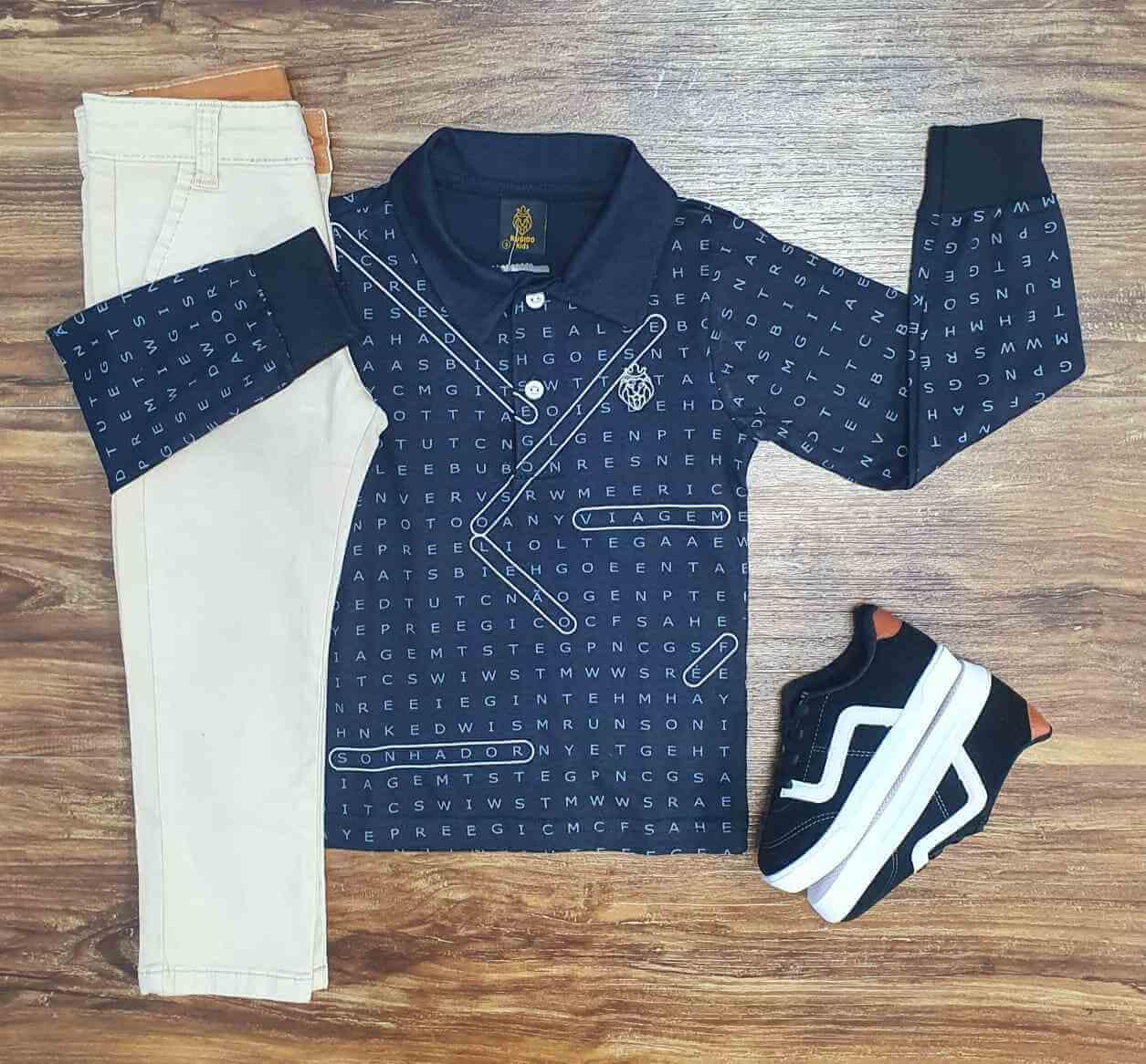 Camisa Polo com Calça Infantil