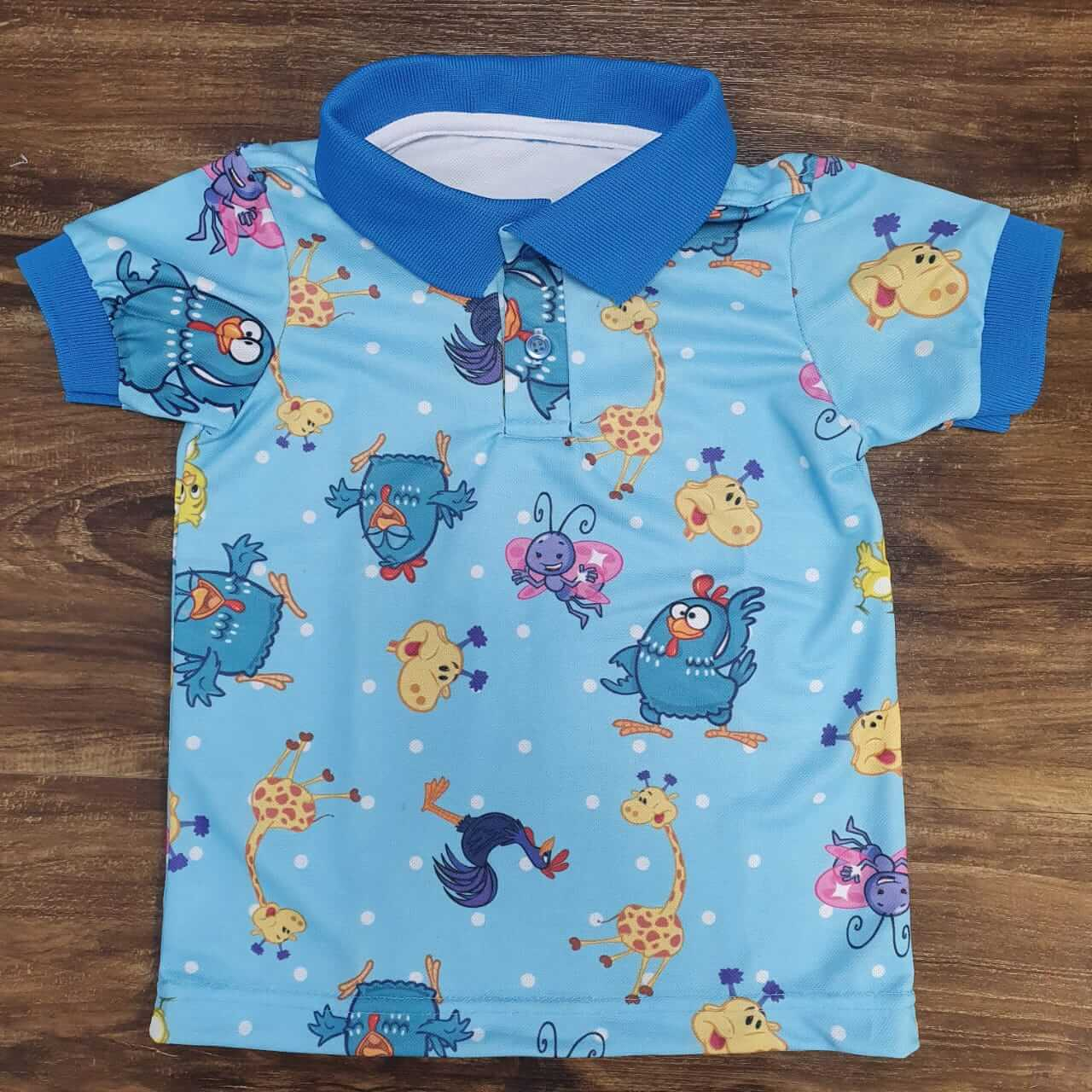 Camisa Polo Galinha Pintadinha Infantil
