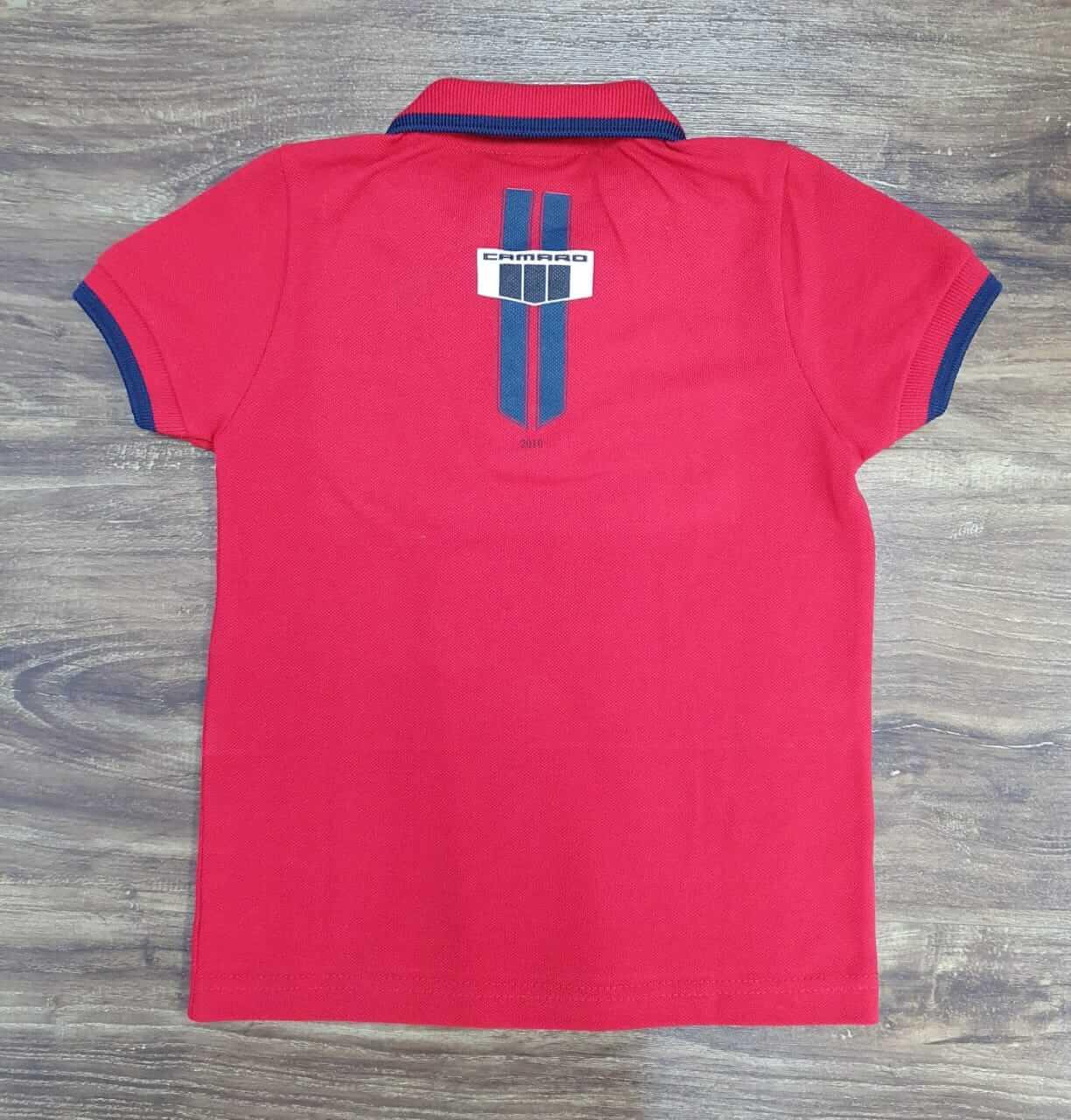 Polo Vermelha Camaro Infantil