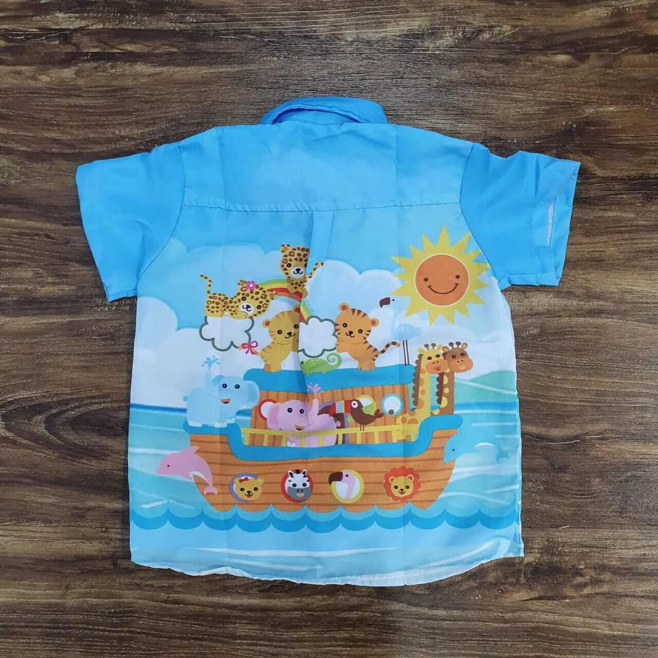 Camisa Social Arca de Noé Infantil