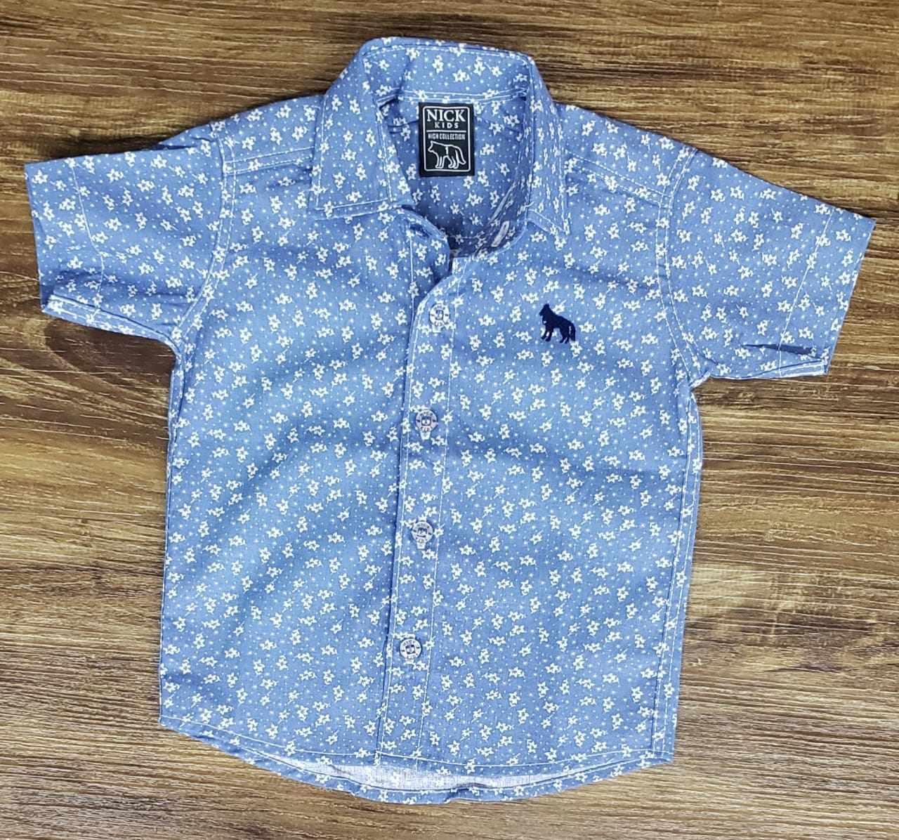 Camisa Social Azul Clara