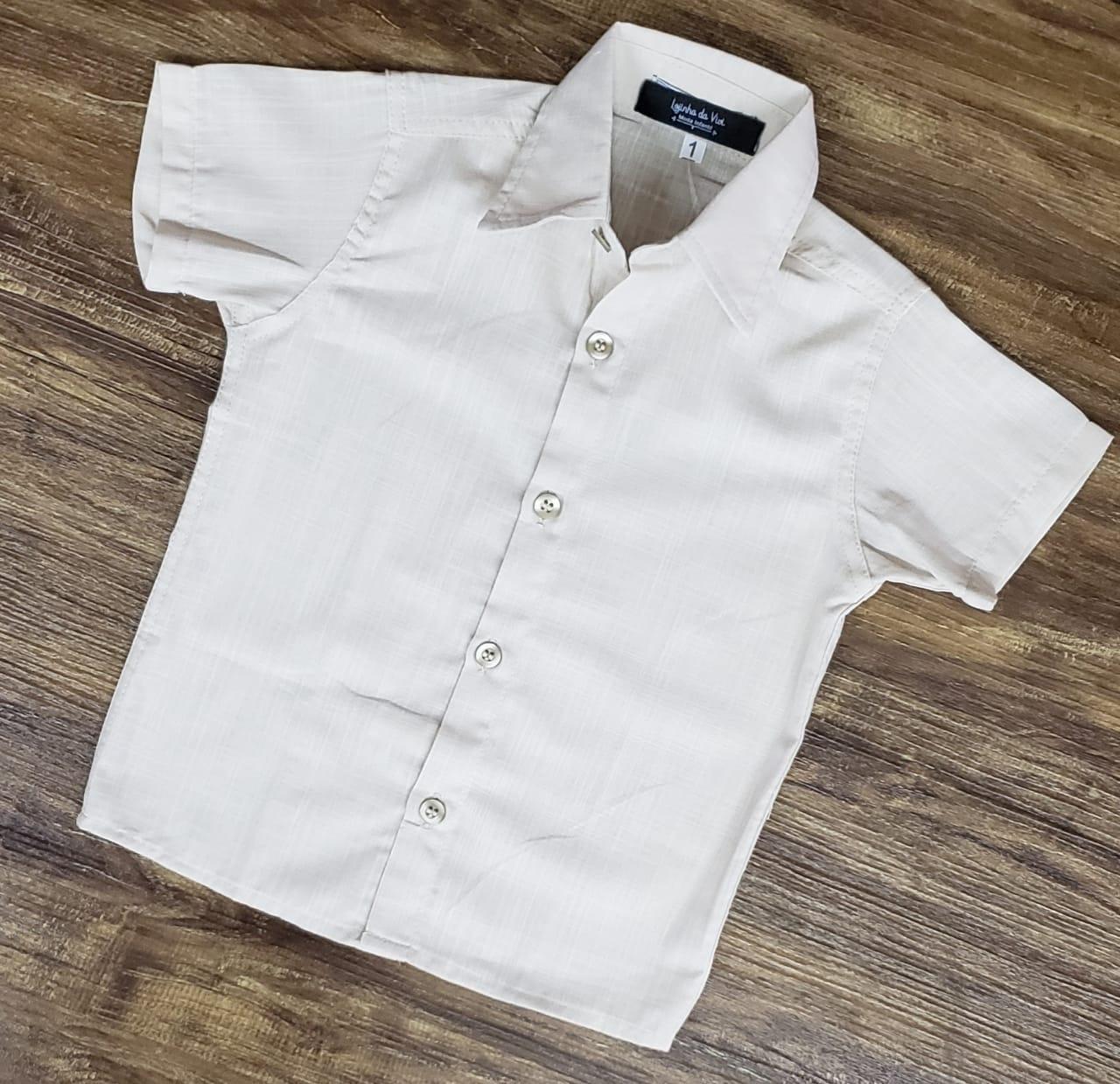 Camisa Social Bege