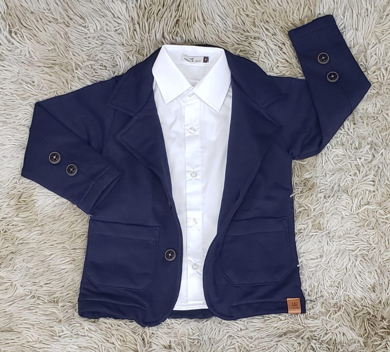 Camisa Social Branca com Blazer