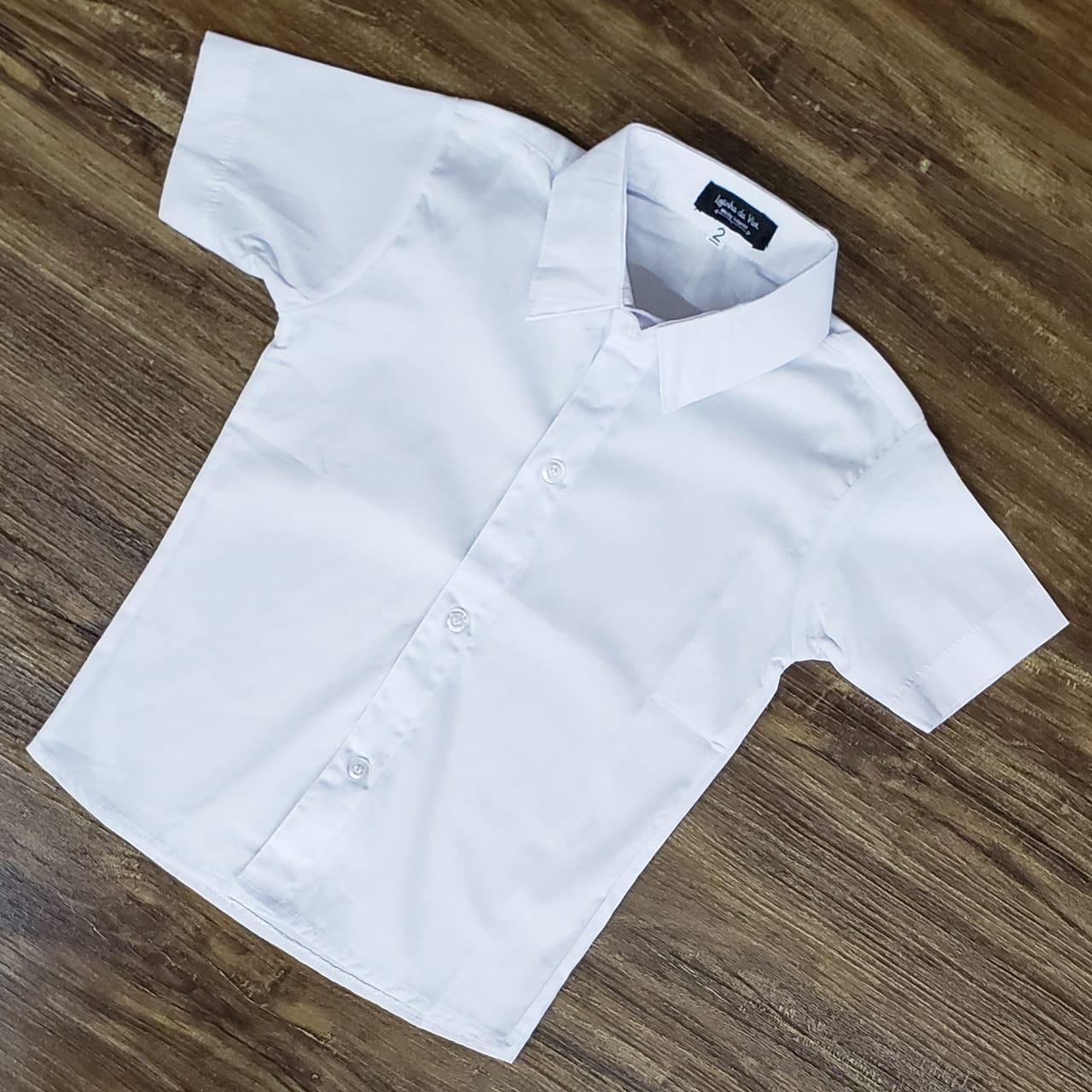 Camisa Social Branca Manga Curta