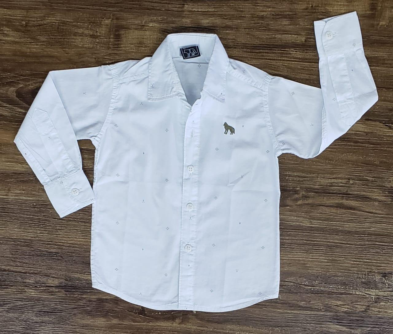 Camisa Social Branca Manga Longa