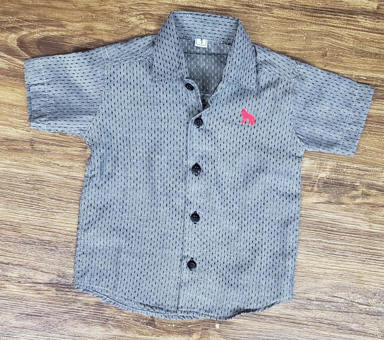 Camisa Social Cinza