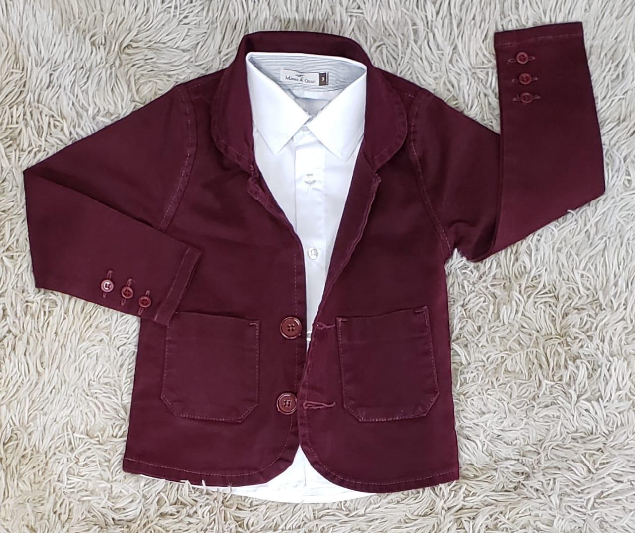 Camisa Social com Blazer