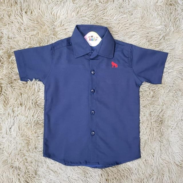 Camisa Social Azul Royal