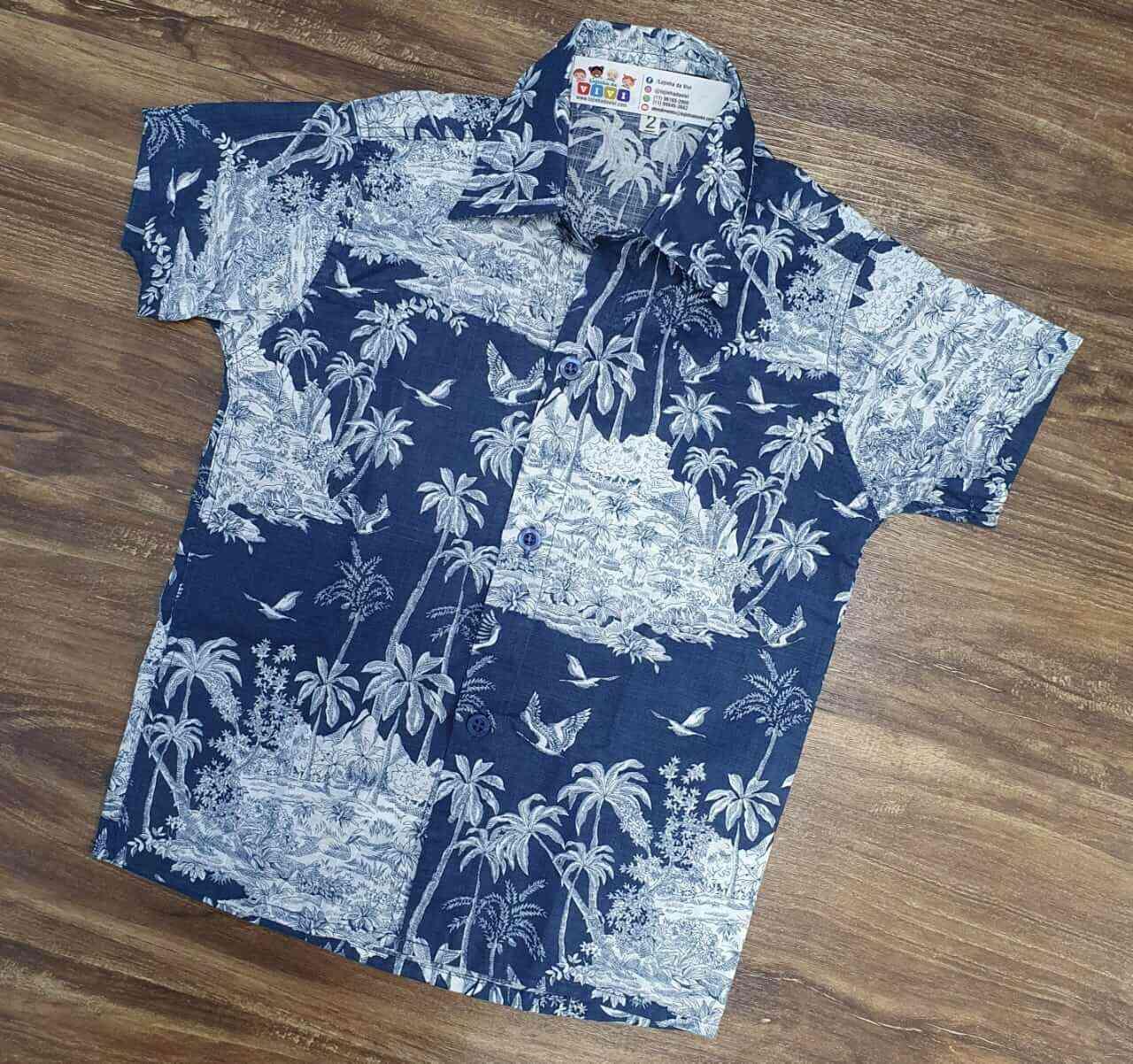 Camisa Social Floral Infantil