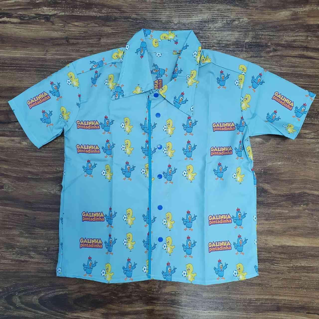 Camisa Social Galinha Pintadinha