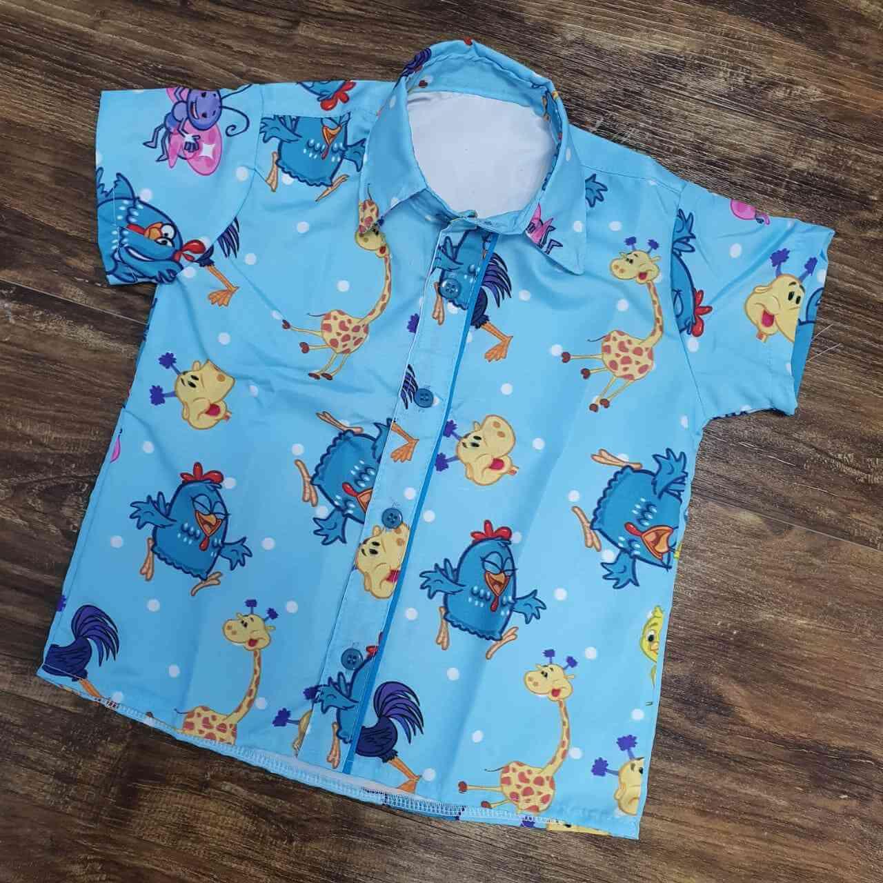 Camisa Galinha Pintadinha Azul