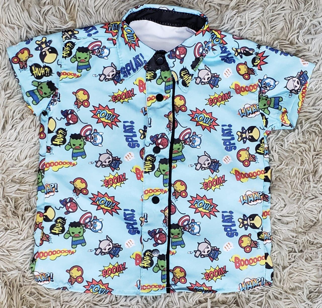 Camisa Social Heróis