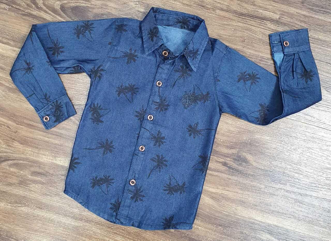 Camisa Social Jeans Coqueiro