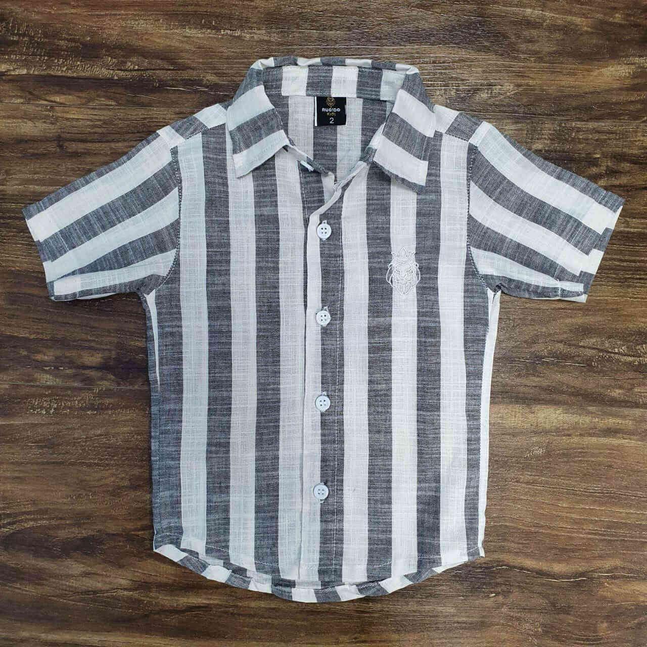 Camisa Social Listrada Infantil