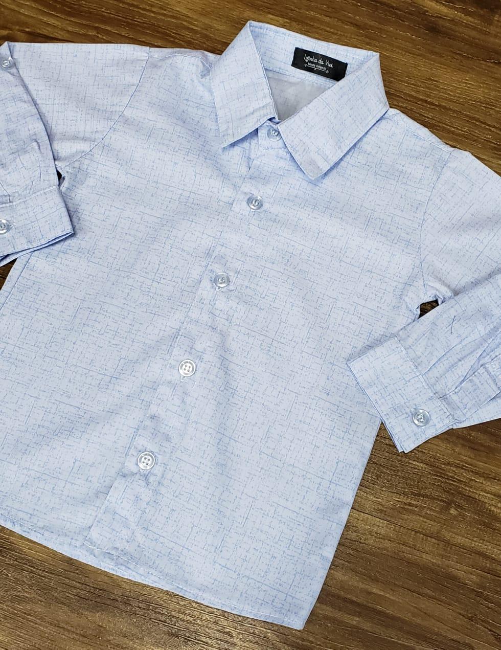 Camisa Social Manga Longa Azul Clara