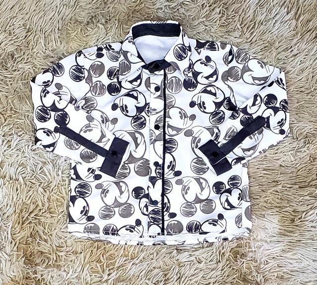Camisa Social Manga Longa Mickey