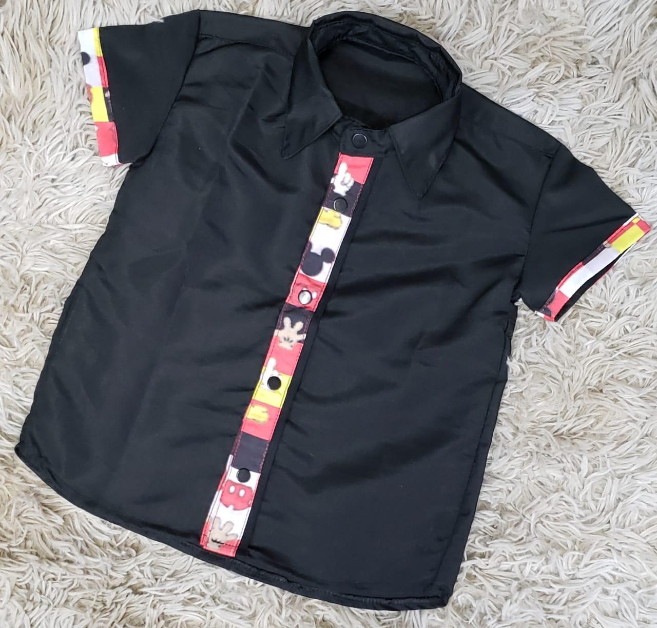 Camisa Mickey Social Infantil