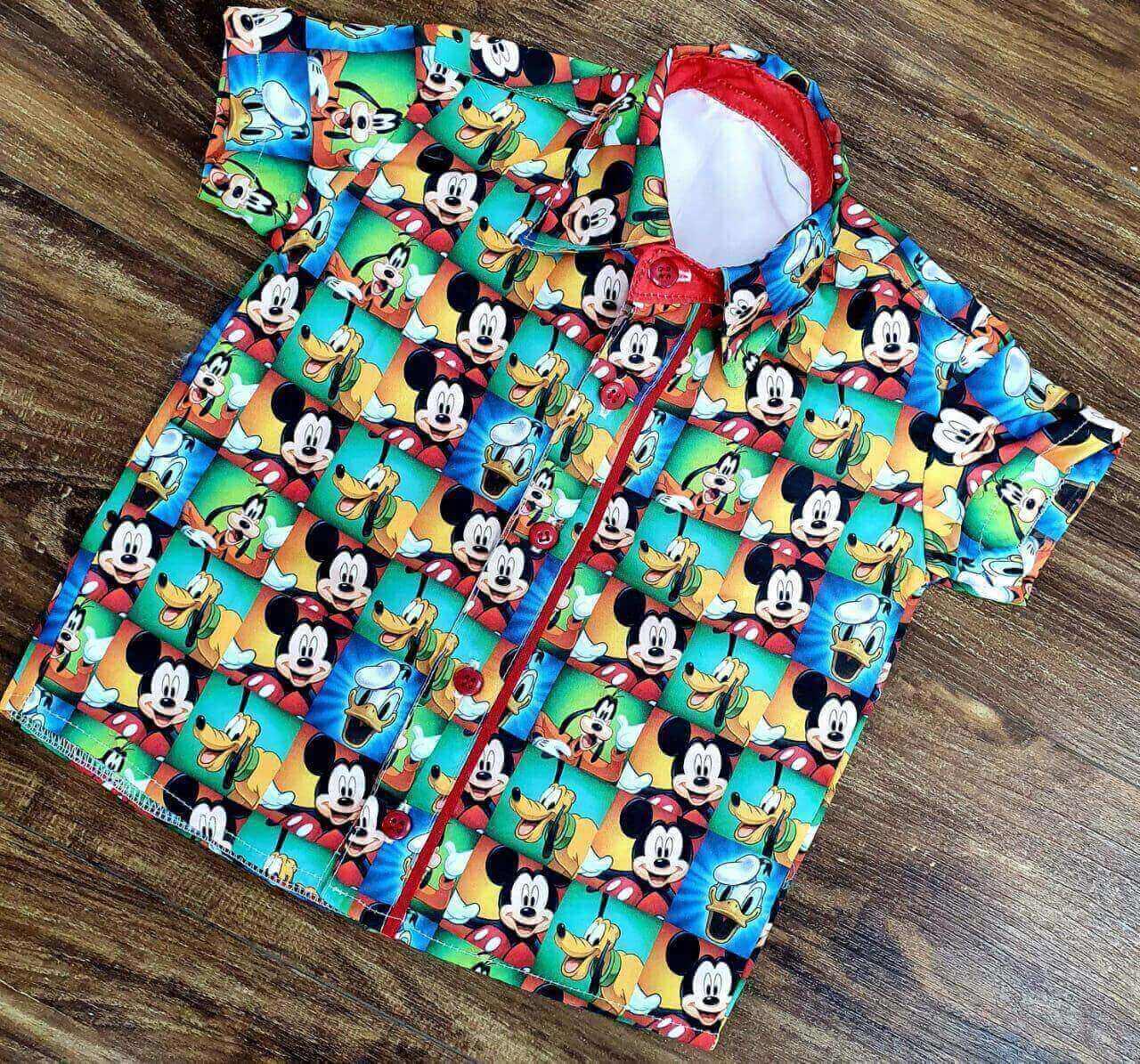 Camisa Mickey Amigos Infantil