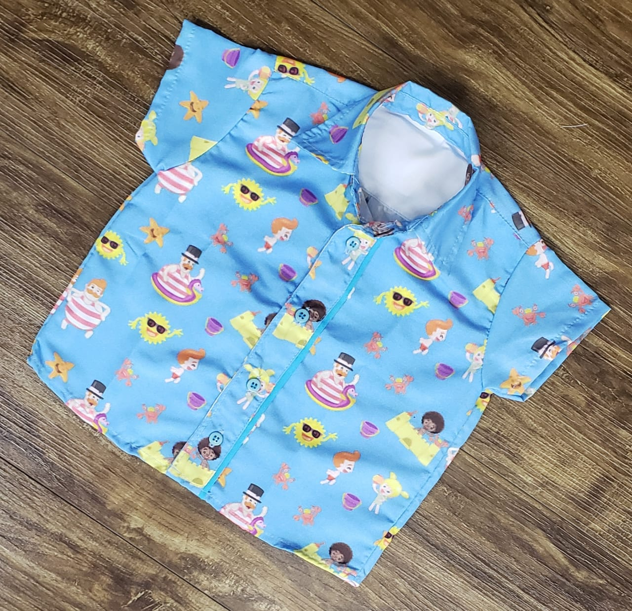 Camisa Mundo Bita Praia Infantil