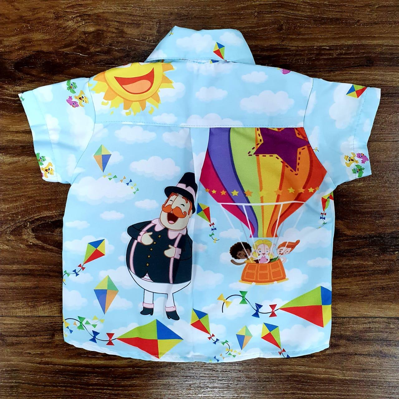 Roupa Camisa Mundo Bita Infantil
