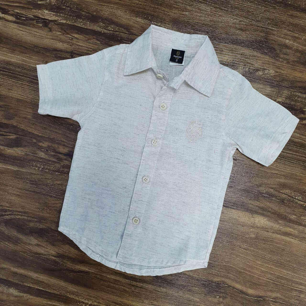 Camisa Social Nude Infantil