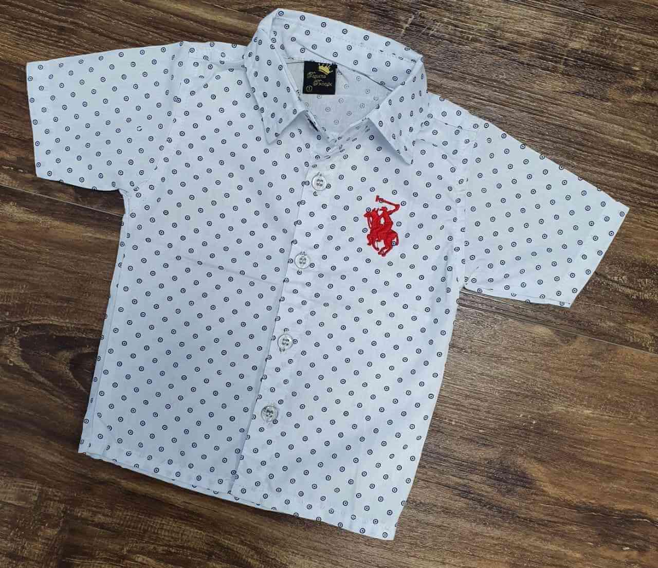 Camisa Social Pontilhada Infantil