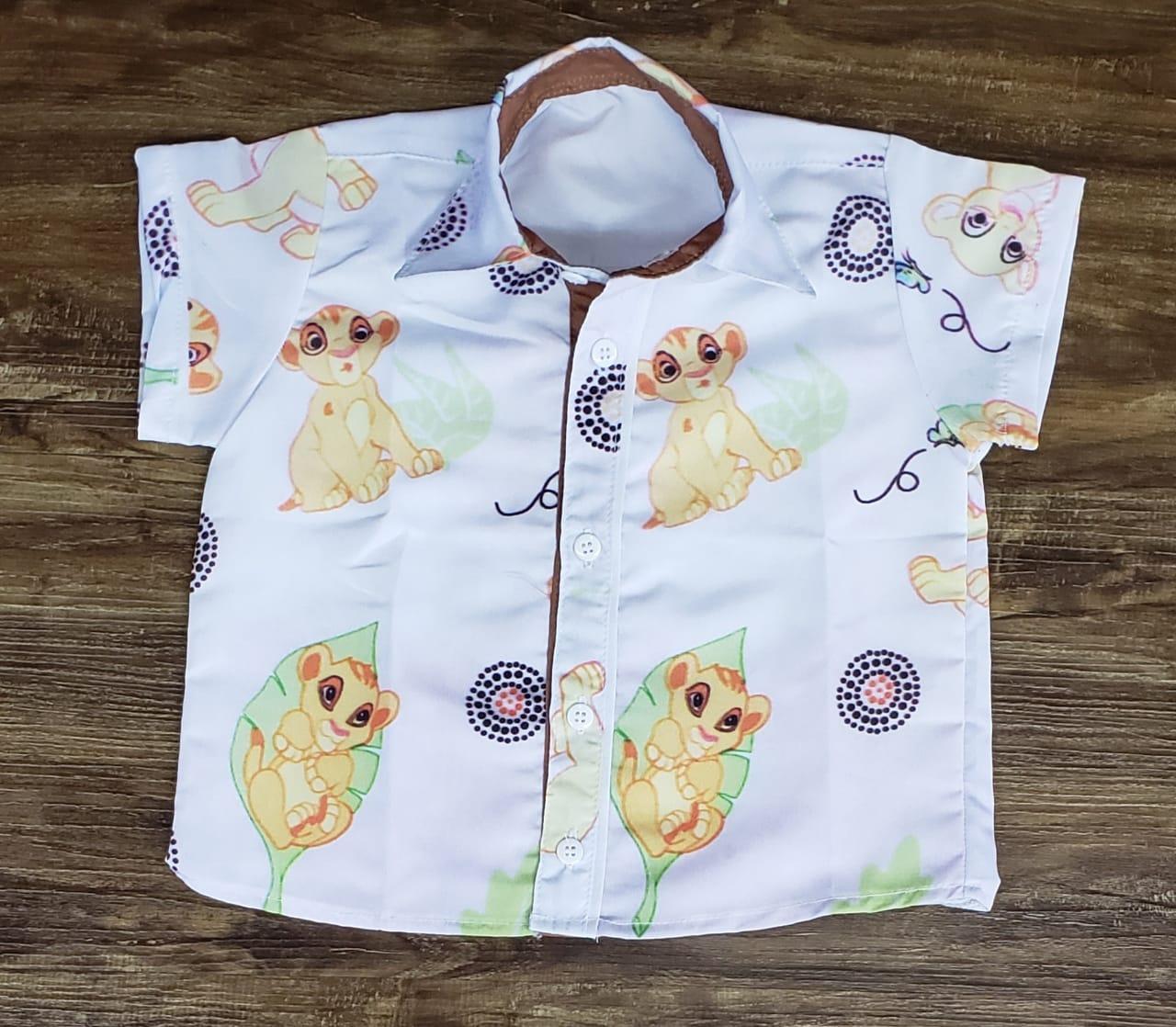 Camisa Social Rei Leão