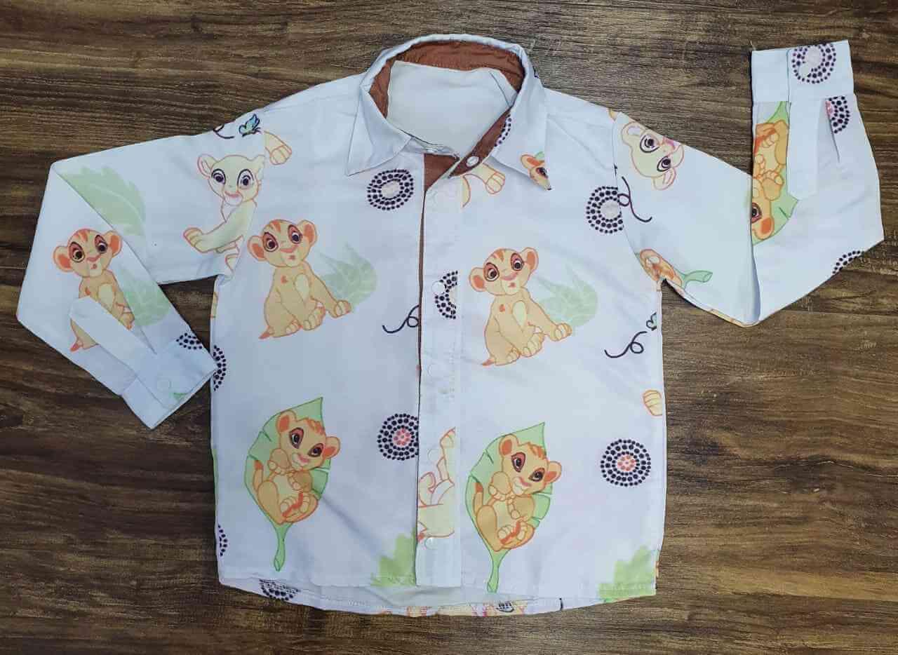 Camisa Social Rei Leão Manga Longa