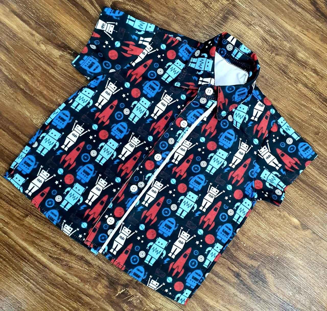 Camisa Social Robôs