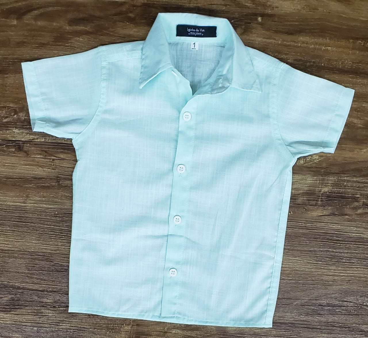 Camisa Social Verde Água