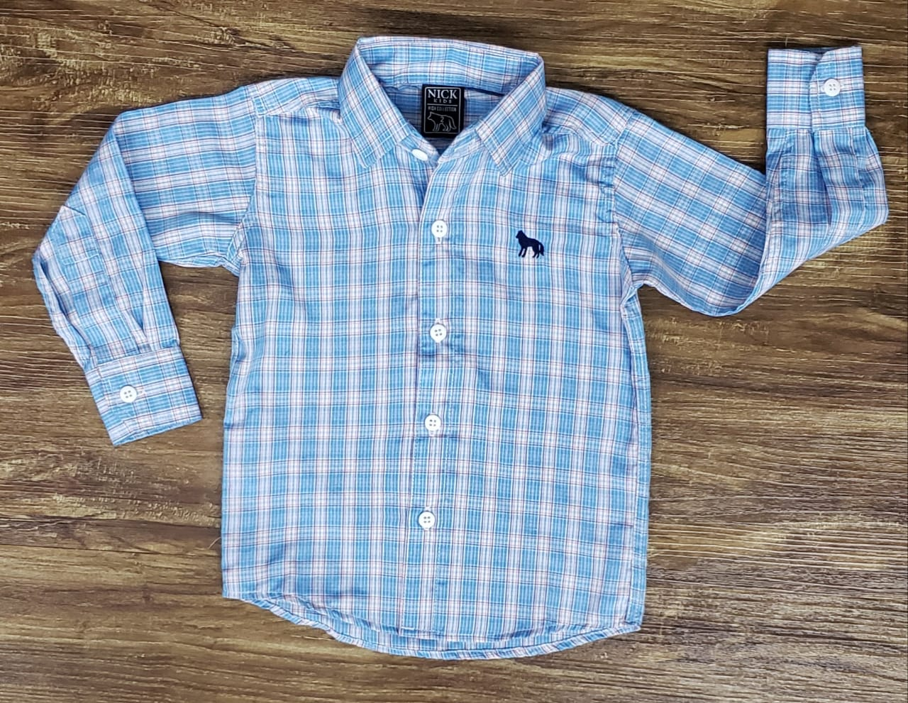 Camisa Social Infantil Xadrez